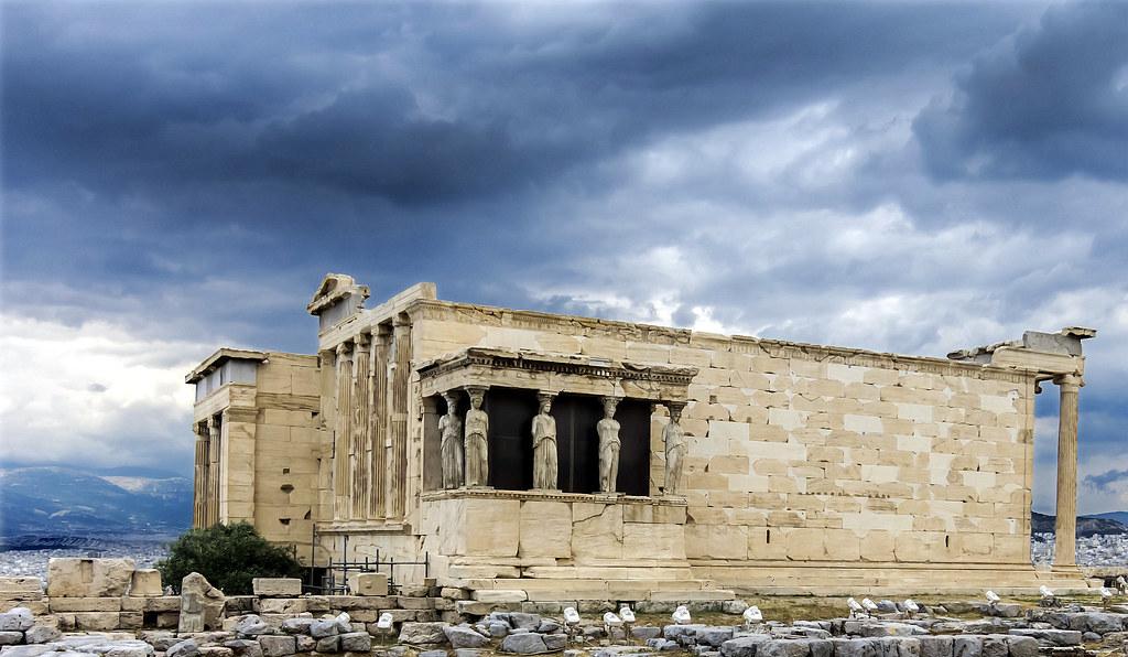 Tribuna De Las Cari Tides El Erectei N Acr Polis Atenas