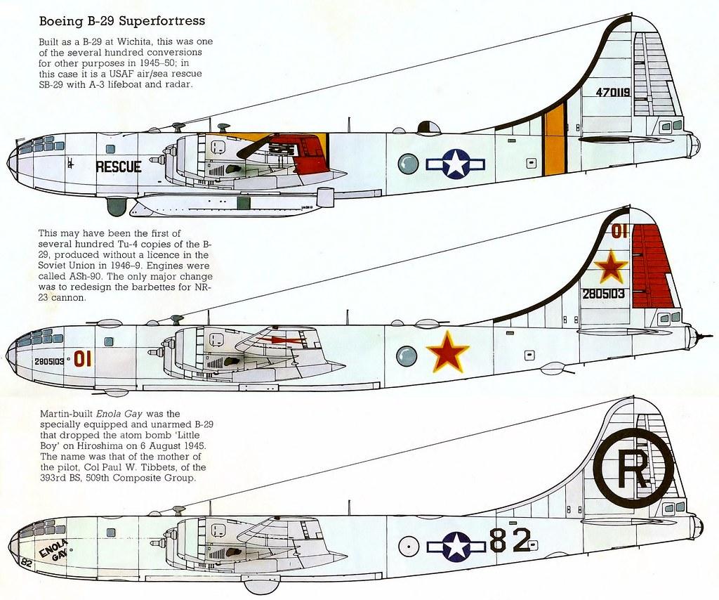 Boeing B-29 Superfortress & Tupolev Tu-4