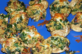 Healthier Stuffed Mushrooms | by cseeman