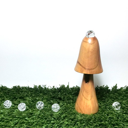 Natural Wood Fairy Garden Morning Dew Mushroom, Woodland decor B | by raycious