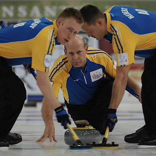 Edmonton Ab.Mar3,2013.Tim Hortons Brier.Alberta skip Kevin Martin,second Marc Kennedy,lead Ben Hebert.CCA/michael burns photo | by seasonofchampions