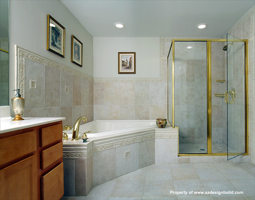 www.aadesignbuild.com, A&A Design Build Remodeling, Master Bathroom, Washington DC, Chevy Chase, Bethesda, Corner Shower, Silver Spring, Aging in Place | by A&A Design Build Remodeling, Inc.