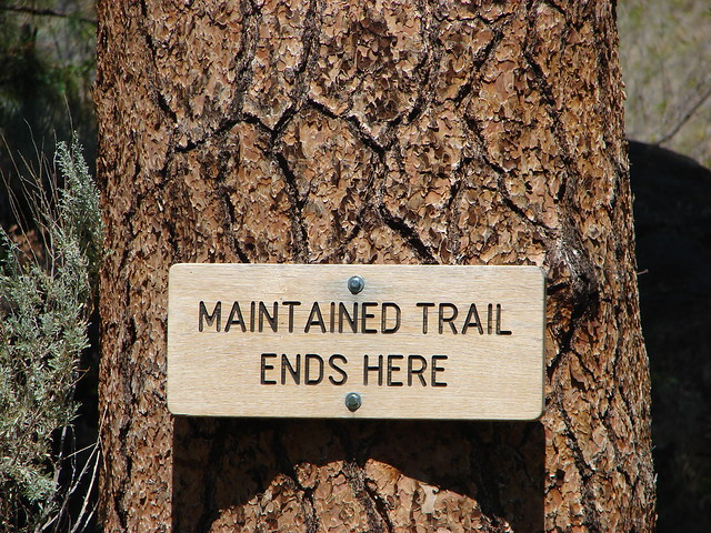 End of the Alder Springs Trail