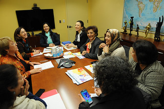 UN Women Executive Director Michelle Bachelet meets with women parliamentarians from Morocco | by UN Women Gallery