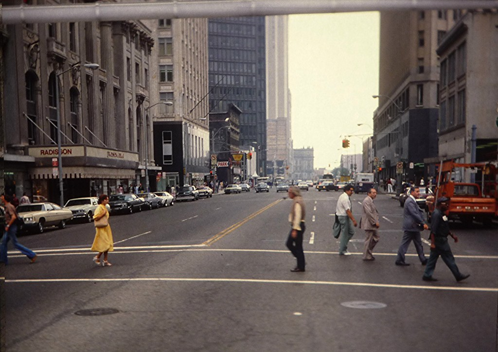 Detroit 1980 I M Not Sure Of The Street But This Is From