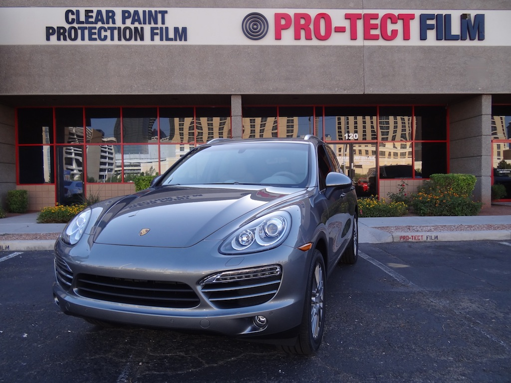 Porsche Cayenne S   Standard Clear Bra Coverage   Clear Film