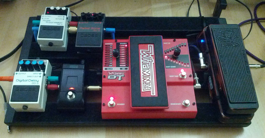 With My New Whammy Dt And Boss Ns 2 My Guitar Pedalboard