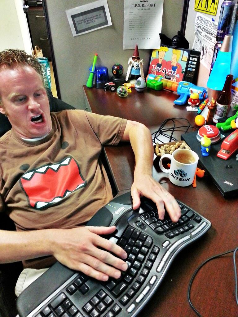 ... Domo Face. Geek At Work. #work #geek #office #nerd #