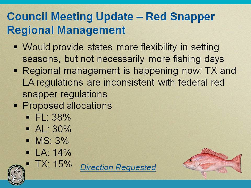 Gulf of mexico red snapper update one of the options the for Texas fishing bag limits