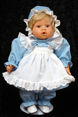 2ee8eb1560b Blue Eyelet Dress Set fits 12