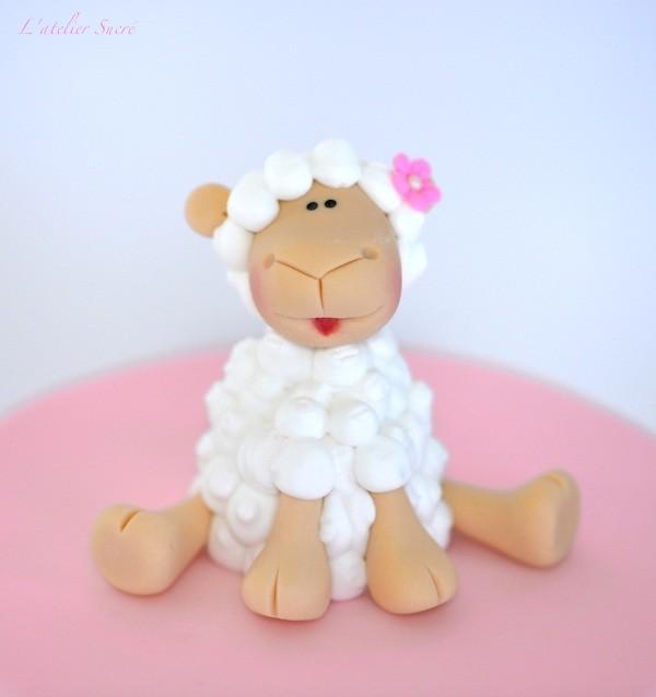 Fondant Sheep Cake Topper