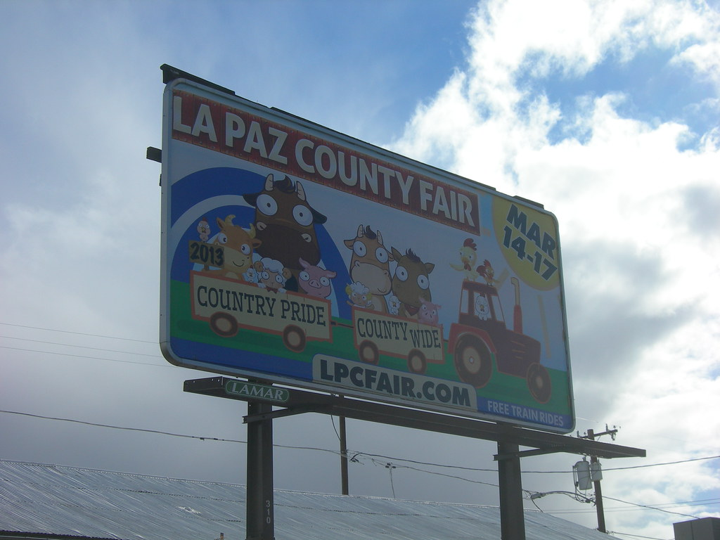 Paz County la Paz County Fair Billboard