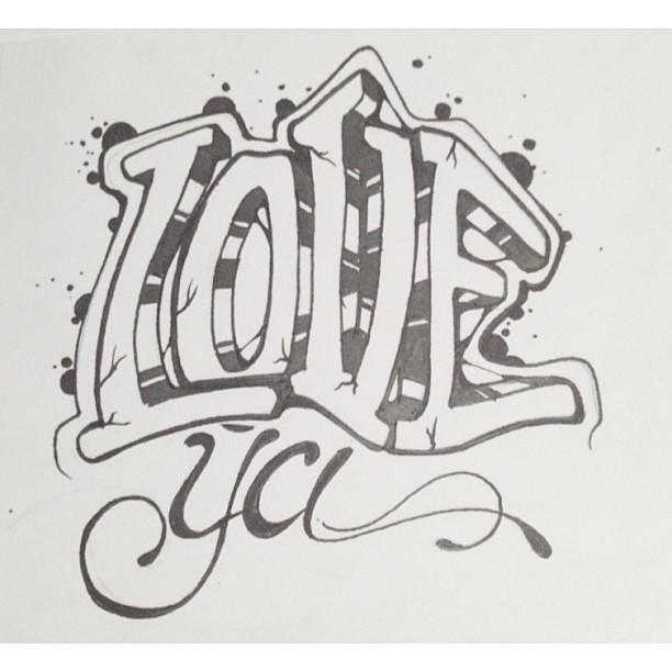 Love Ya Whitagram Typography Typeporn Letters Graffit