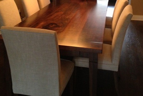 Rustic Black Walnut Harvest Table Suite With Epoxy And Paru2026   Flickr