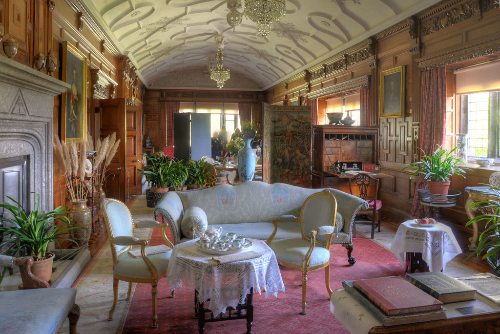 Lanhydrock house interior the great house stands in exte flickr - House interior images ...