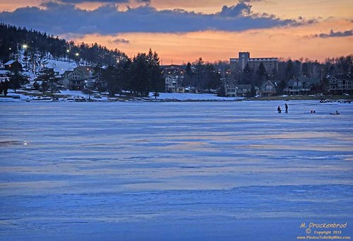 Ice fishing on deep creek lake with 65 miles of for Deep creek lake fishing