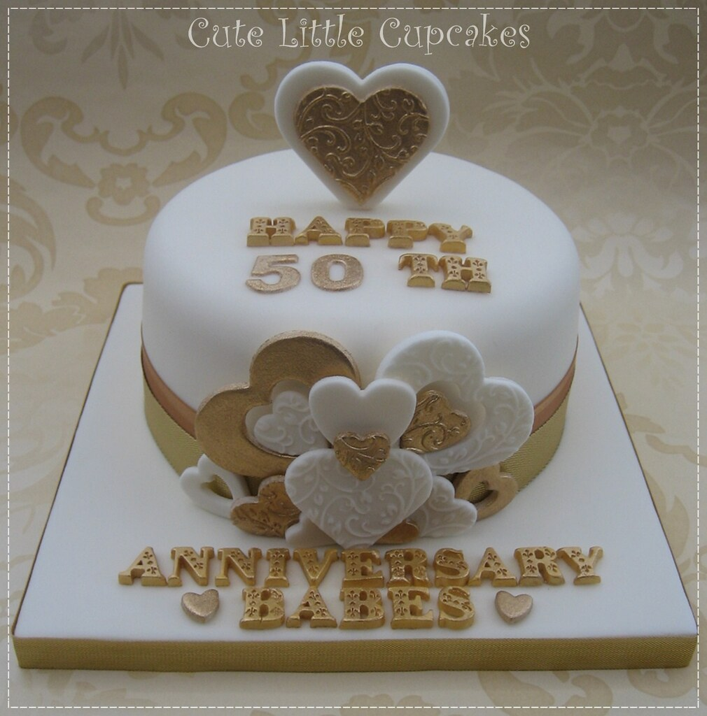 ... 50th Wedding Anniversary Cake | By Cute Little Cupcakes / Heidi Stone