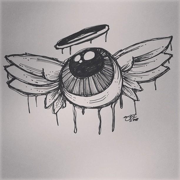 Morning Sketch Angel Eye sketch drawing design illus
