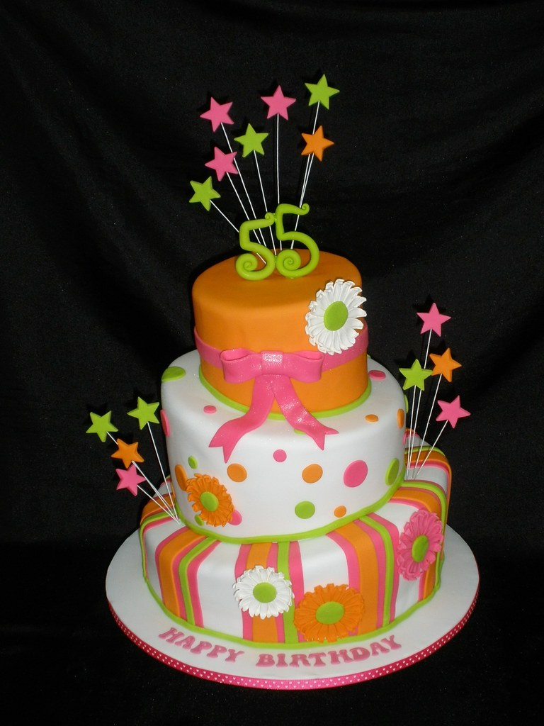 55th Birthday Cake Inspired By Pink Cake Box Tracey Chooi Flickr