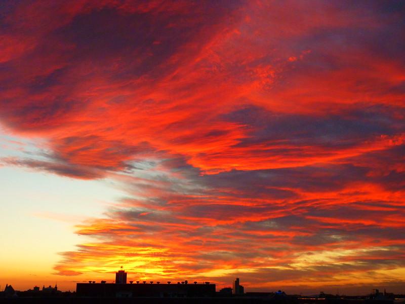 wolken, Leipzig, rot