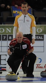 Edmonton Ab.Mar3,2013.Tim Hortons Brier.Ontario skip Glenn Howard,Manitoba skip Jeff Stoughton..CCA/michael burns photo | by seasonofchampions