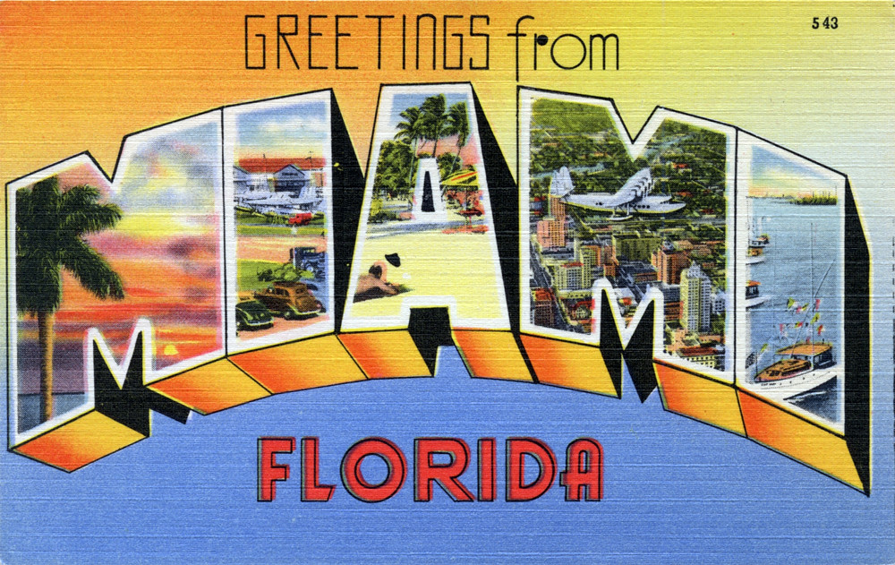 Greetings from miami florida large letter postcard flickr greetings from miami florida large letter postcard by shook photos m4hsunfo