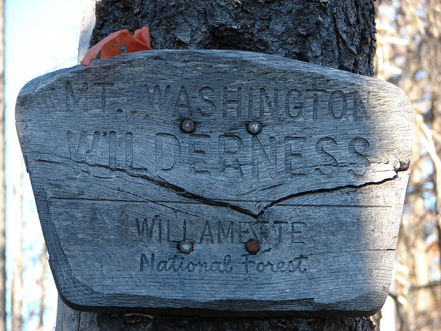 Wt. Washington Wilderness sign