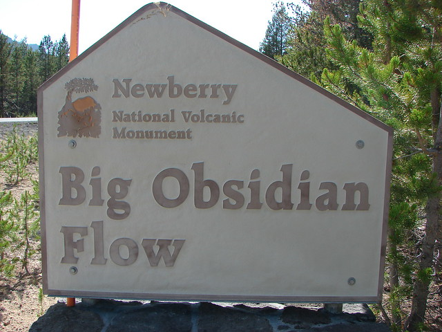 Big Obsidian Flow sign