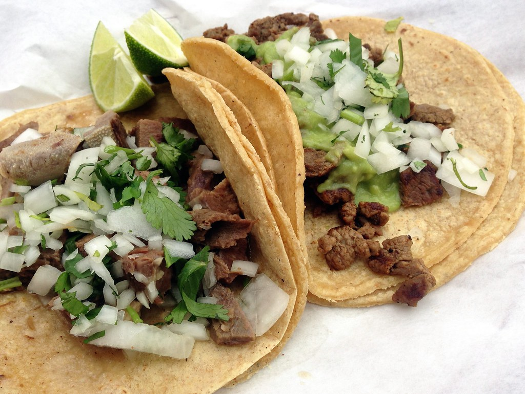 Tacos de Lengua and Carne Asada - Tacos El Paisa | Kirk K ...