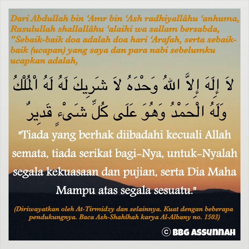 Sebaik-baik doa = Doa hari 'Arafah | Adi Salafy | Flickr