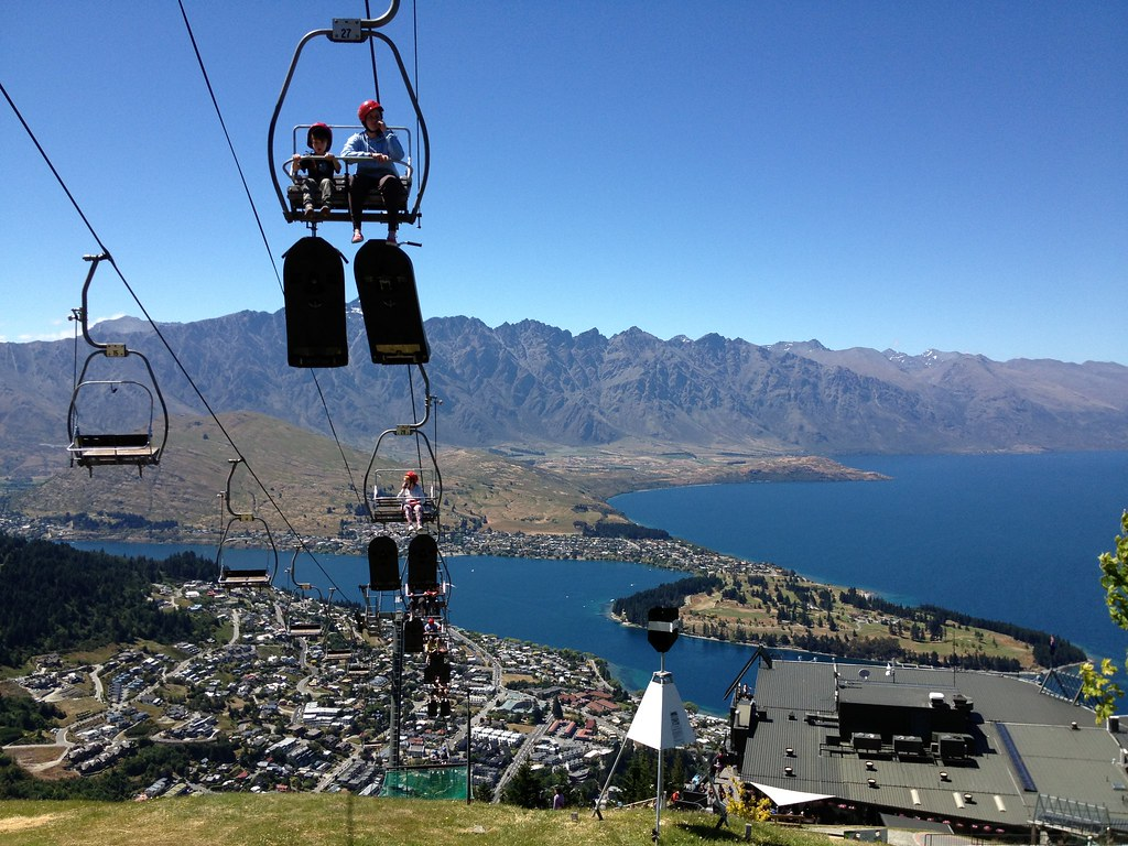 Skyline Luge Queenstown - chairlift 2 | Riding the ...
