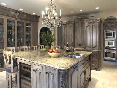 Exclusive old antique gray marble carved cabinets cupboard for Carved kitchen cabinets