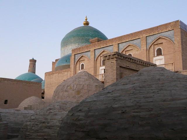 Mezquita de Khiva (Jiva) en Uzbekistán