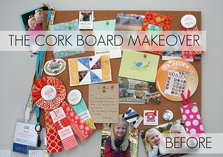 Cork Board Makeover | by freshlypieced