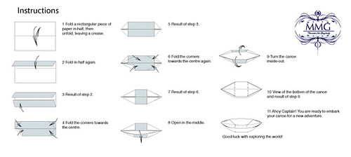 how to make a dugout canoe out of paper