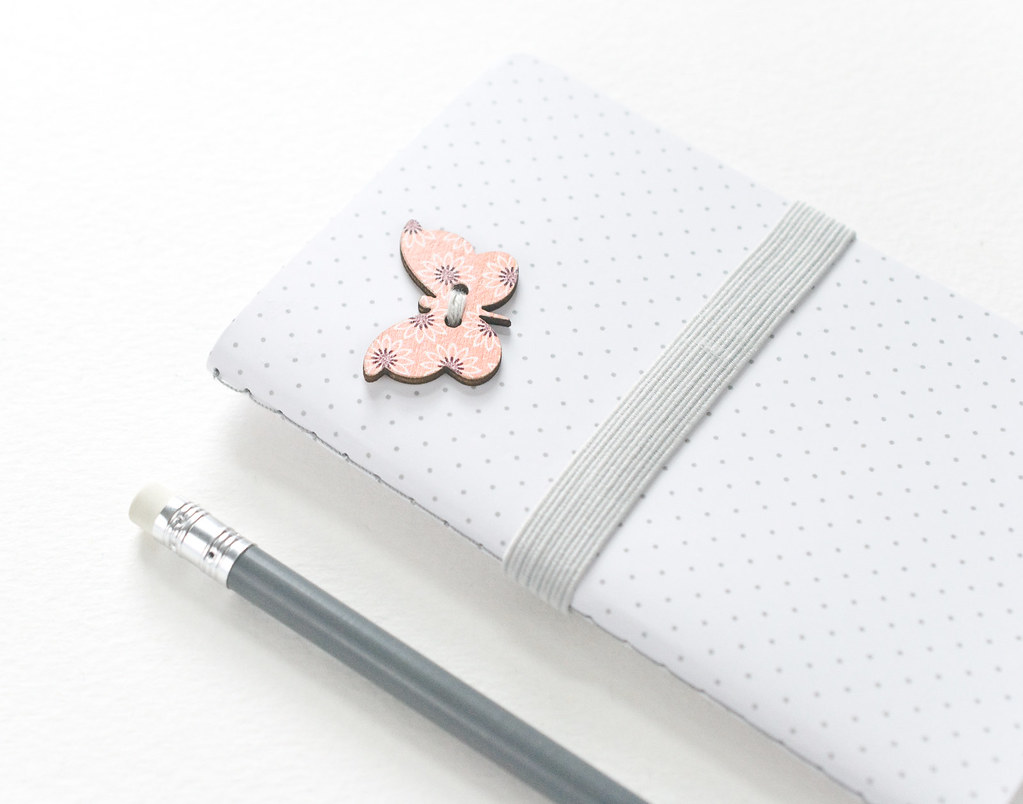 Butterfly Button Notebook