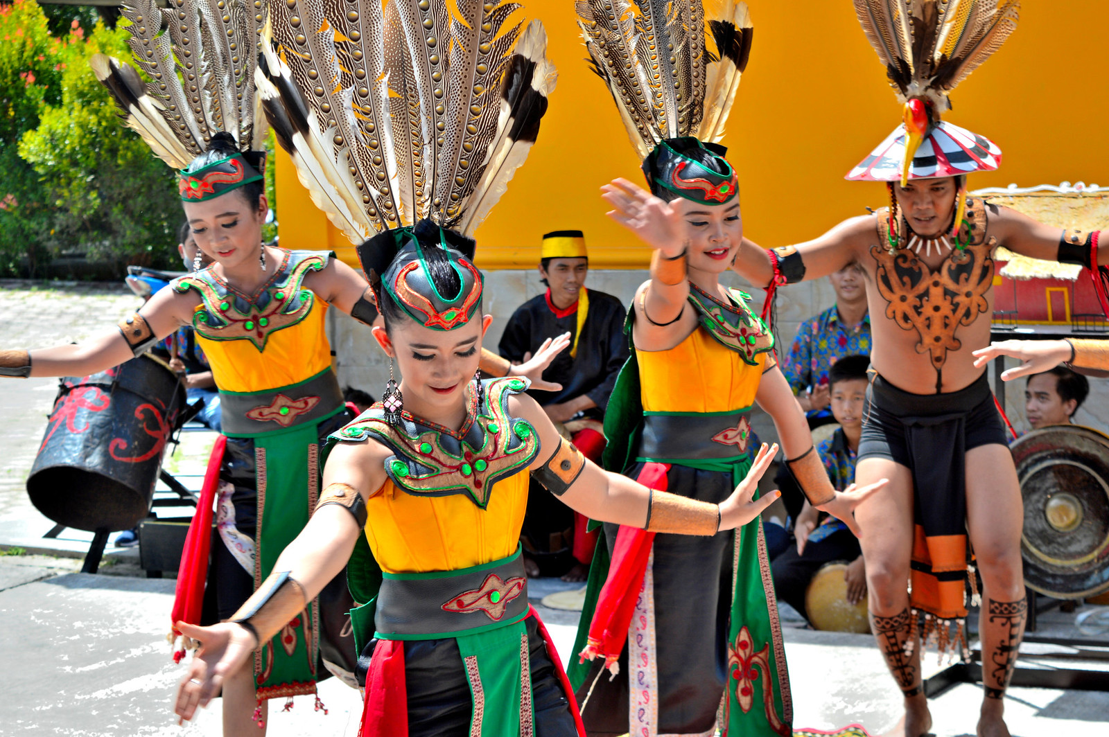 Traditional Indonesian Dancers at Port Kumai.