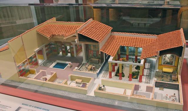 Model of Roman villa Penn Museum Flickr  Photo Sharing! - Ancient Greece Floor Plan
