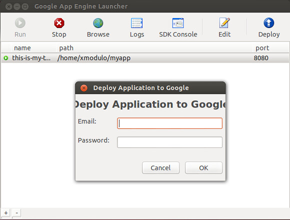 Deploy An App Engine Application Via Google App Engine Lau