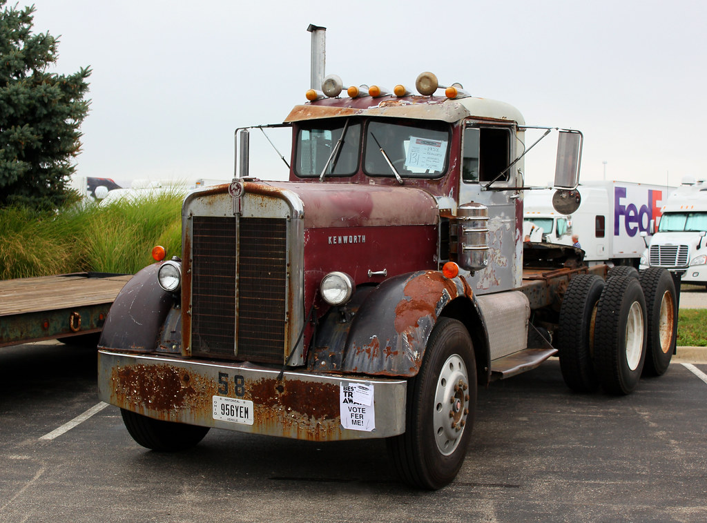 Heavy Duty Truck For Sale Ohio >> Phil Brown's 1958 Kenworth | Old Time Trucks Magazine's show… | Flickr