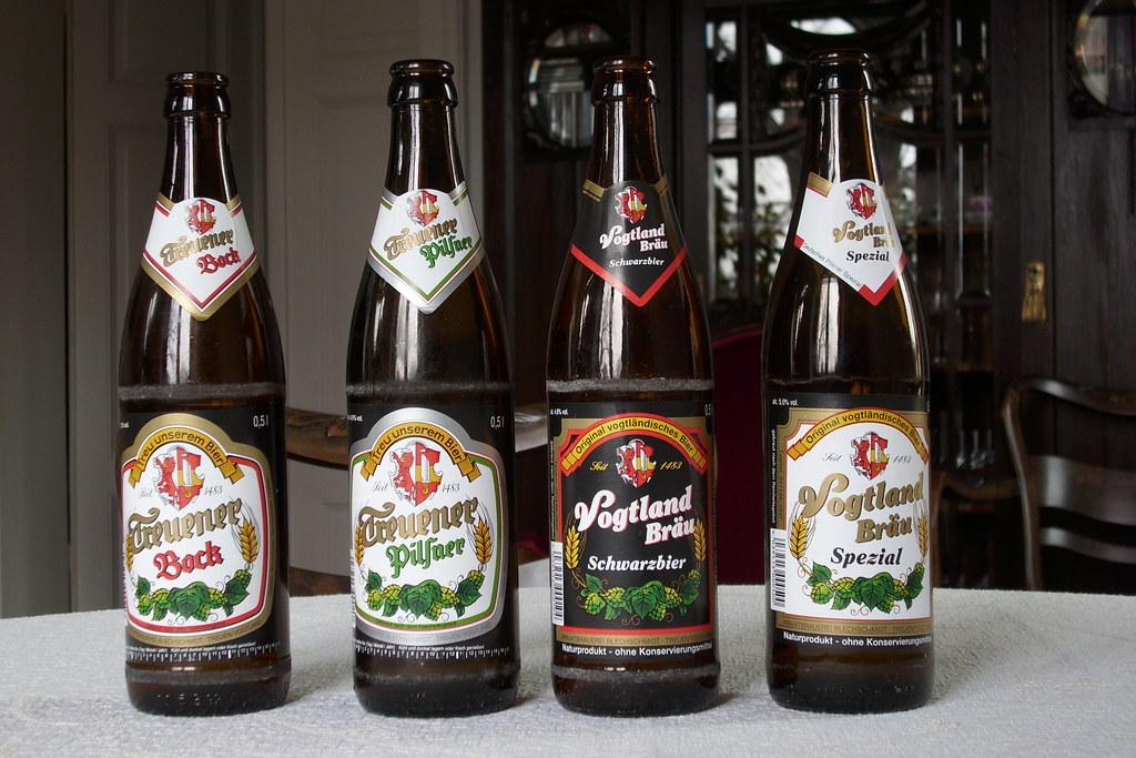 biere der privatbrauerei karl blechschmidt in treuen  vogtl