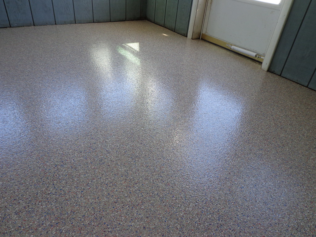 Epoxy Flooring - Chip Broadcast - North Door After | Flickr