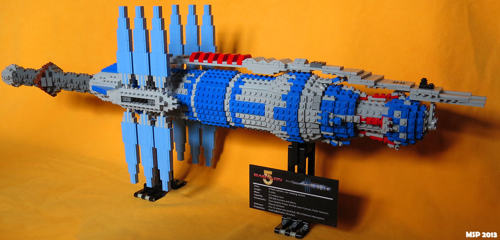 Babylon 5 with LEGO® bricks | LEGO® brick model of Babylon ...