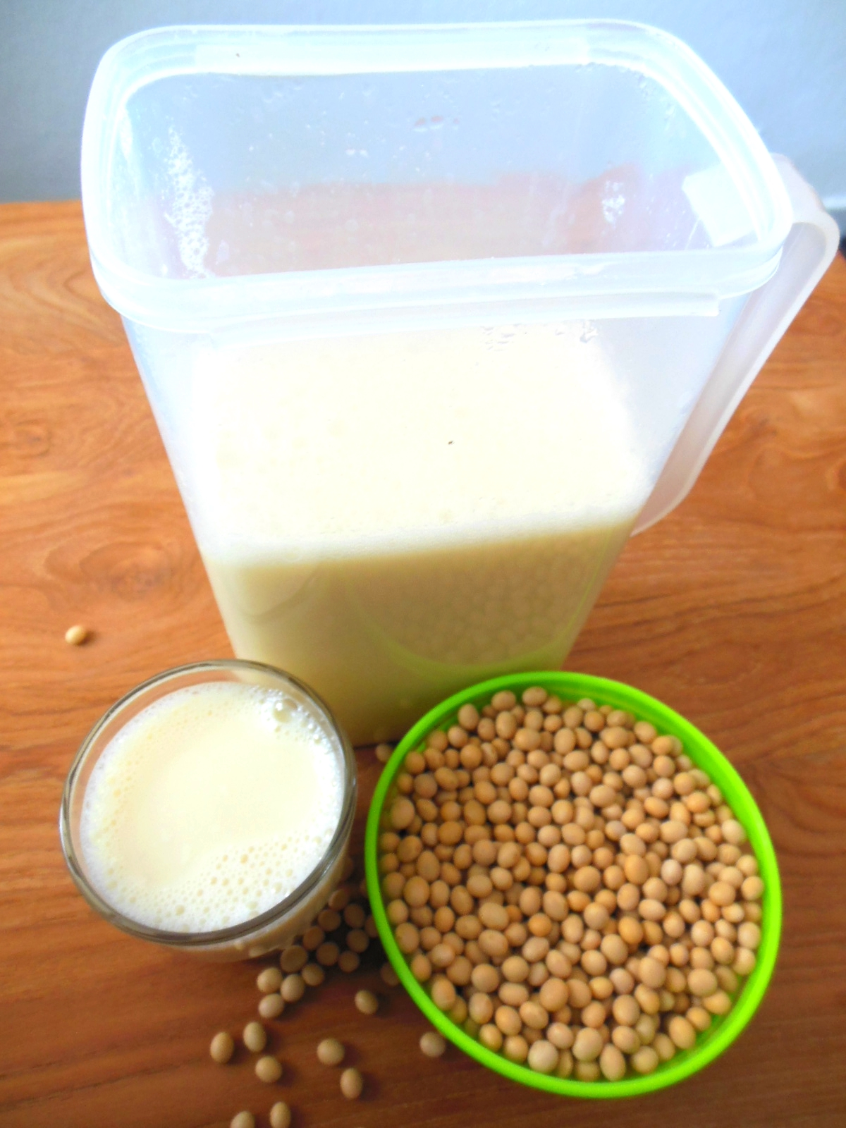 Very fresh natural homemade soy milk