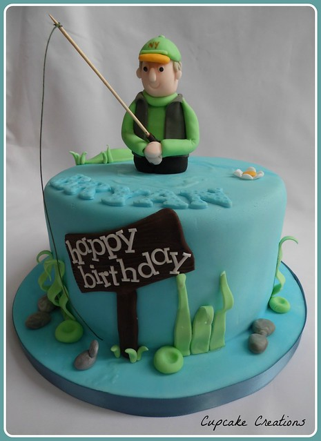 Fishing theme cake cake ideas and designs for Fish birthday cake