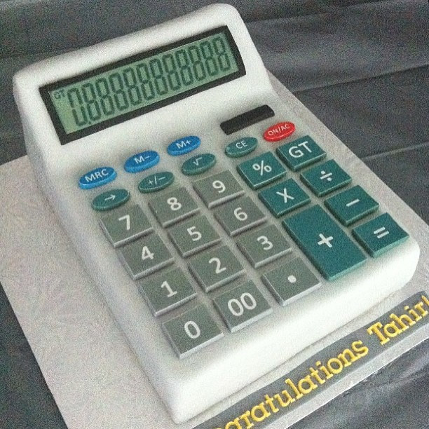 Red Velvet Calculator Cake By Sugar Baking