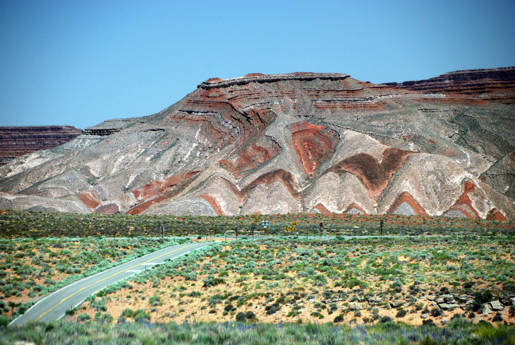 Raplee Anticline Utah Painted By The Natural Minerals