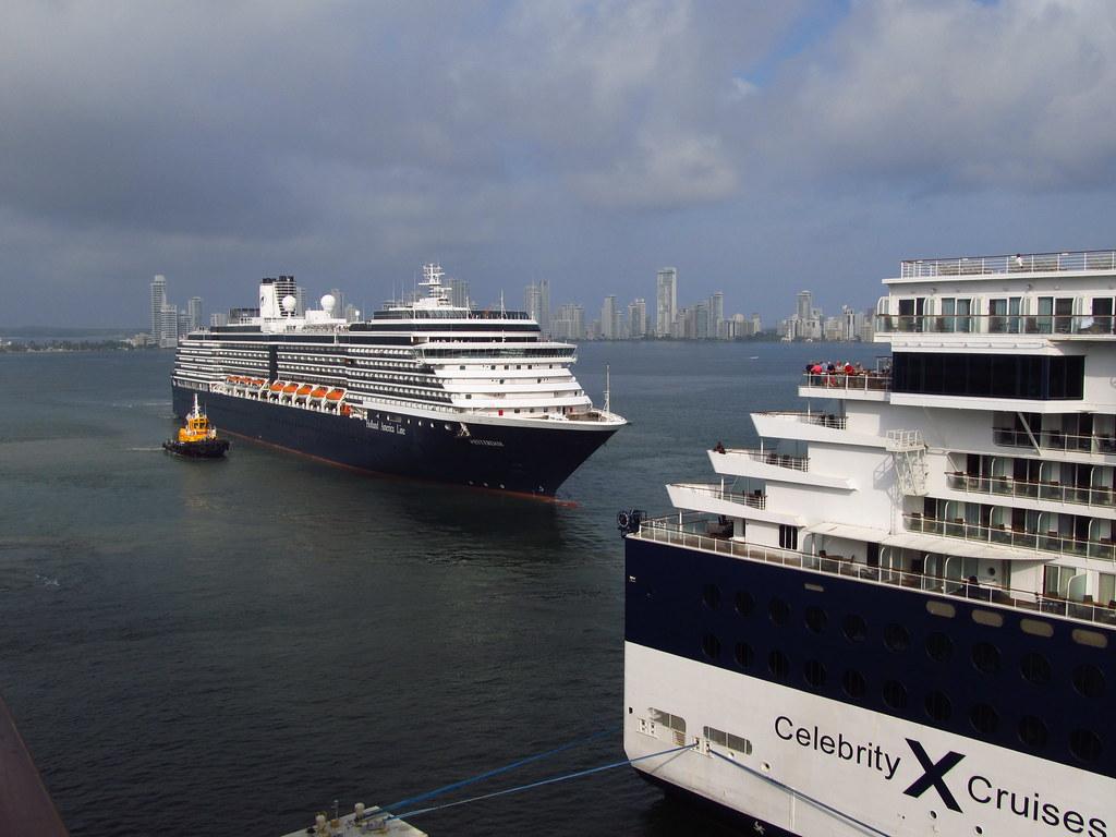cartagena harbor onboard the coral princess docked at