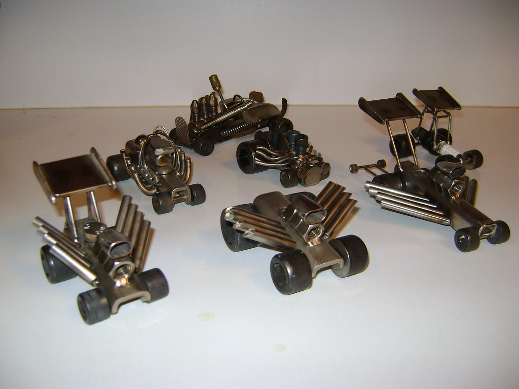 Hot rods by j grier description little hot rods made o flickr - Simple metal art projects ...