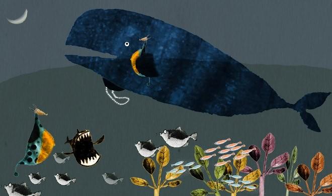 6月海洋日,節日壽星海大富。繪者:湯為筌。